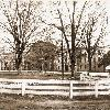 South Building (Rutledge College) circa 1875. As the sole building during the inaugural school year, South Building housed all living and dining quarters for both faculty and students and contained lecture spaces and a chapel.