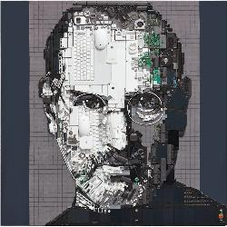 Kirkland Smith's assemblage portrait of Apple co-founder Steve Jobs won first place at the 2013 Art Fields competition in Lake City, S.C.