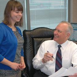 Jay Moskowitz, right, and Genevieve Ray Lyons of Health Sciences South Carolina