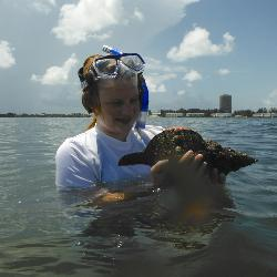 Eckmann's internship in Florida provided plenty of interactions with aquatic life.