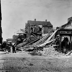 The Charleston area suffered widespread damage from an earthquake in 1886.