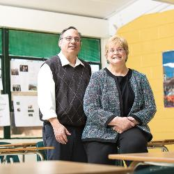 Art and Lisa Lader have led Aiken High School's German program for years, and many of their students have won Fulbright Scholarships in college.
