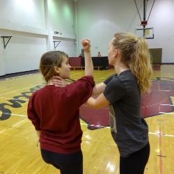 The university offers for-credit self-defense class taught by professors Ed Carney and Shannon Henry from Surviving Assault and Standing Strong (SASS), a local self-defense organization for women, each semester.