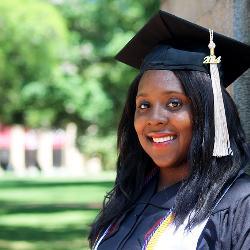 Recent graduate Sheimaliz Glover was awarded the Thomas R. Pickering Graduate Fellowship.