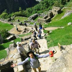 At Machu Picchu, the group traveled up the mountain to the Temple of the Sun. (Photos provided by Capstone Scholars.