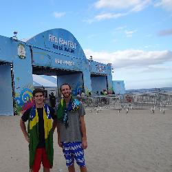 Seniors Joseph Gelay and Jack Mitchell had the experience of a lifetime thanks to a university research grant for undergraduate students and a trip to the FIFA World Cup in Brazil.