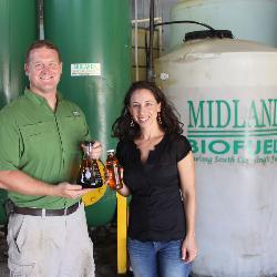 Joe and Beth Renwick, owners of Midlands Biofuels