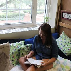 Laura Bankert is excited to return to living on campus as a resident mentor in the newly renovated Women's Quad.