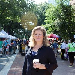 Carolina alumna Joelle Ryan-Cook, deputy director of the Columbia Museum of Art, has played a key role in the revitalization of Main Street and the growth of the downtown arts scene.