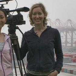 UofSC media arts professor Laura Kissel (right) follows American-grown cotton across the Pacific Ocean to textile and clothing manufacturers in China and the return trip of dresses, pants, socks and underwear that end up in retail outlets across the country.