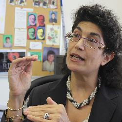 Carole Oskeritzian earned tenure at the Pasteur Institute in Paris before coming to the United States.