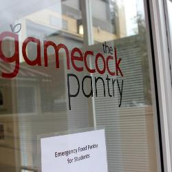 The Gamecock Pantry started two years ago as a Student Government project to provide food items to students in need. The program is run entirely by students.
