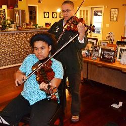 When Amelia Hare, an 11 year-old String Project violinist, practices at home she has help in the next room, because her mother, Michelle Martin, a UofSC library science professor, participated in String Project nearly 35 years ago.