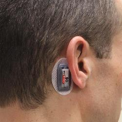 Small accelerometers placed behind the ear record forces that an athlete's head experiences during sporting events. UofSC researchers have access to a wide range of athletes in many settings suitable for research studies.