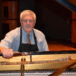 Paul Williams is the School of Music's piano technician. He has as many as 375 piano pedals, 11,000 piano keys and 29,500 piano strings to keep in working order.