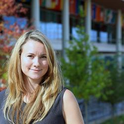 Tamara Sheldon, new assistant professor in the economics department at the Darla Moore School of Business, is blending her interests in the environment and business to study how the economy affects the environment and how better to provide incentives for sustainability.