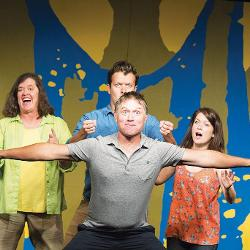 The Theatre 99 improv group was founded by  UofSC alumni Brandy Sullivan (left) and Greg Tavares (center).