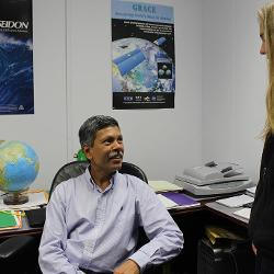 Subrahmanyam Bulusu leads a research group that is integrating oceanographic data and computer models to develop a highly accurate map of the ocean and how it changes over time.