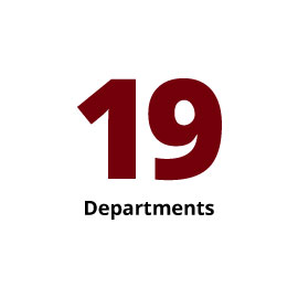 Infographic: 19 Departments