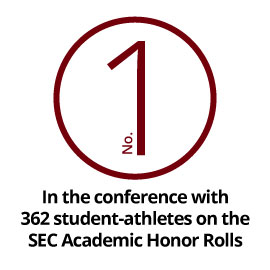 No. 1 in the conference with 362 student-athletes on SEC Academic Honor Rolls