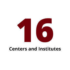 Infographic: 16 Centers and Institutes
