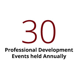 Infographic: 30 professional development events held annually