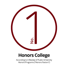 "Infographic: No. 1 Honors College According to A Review of Public University Honors Programs (""Honors Factors"")"