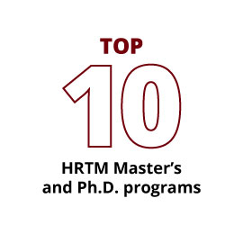 Infographic: Top 10 HRTM Master's and Ph.D. programs