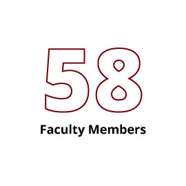Infographic: 58 Faculty Members