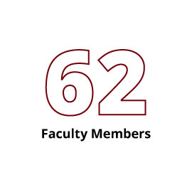 Infographic: 62 Faculty Members