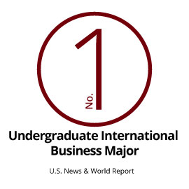 Infographic: No. 1 Undergraduate International Business Major (U.S. News & World Report)