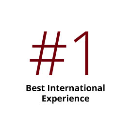 Infographic: No. 1 Best International Experience