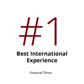 Infographic: No. 1 Best International Experience (Financial Times)
