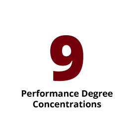 Infographic: 9 Performance Degree Concentrations