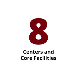 Infographic: 8 Centers and Core Facilities