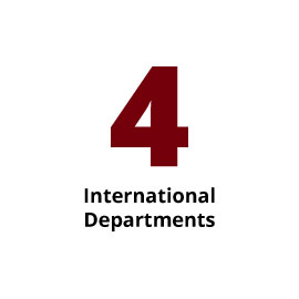 Infographic: 4 International Departments