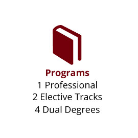 Infographic: Programs: 1 Professional, 2 Elective Tracks, 4 Dual Degrees