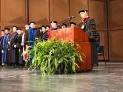 President Pastides speaks during Commencement
