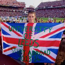 Eveie Robinson, a third-year student from the University of Leeds, is making the most of her study abroad experience in America at USC.