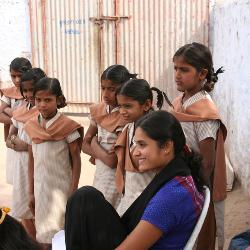 College of Education professor Payal Shah spends time at schools in rural India to better understand issues facing young girls there.