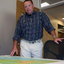 Dwayne Porter is director of the Geographic Information Processing Laboratory at the Baruch Institute. Porter's research involves collecting data from hundreds of points in coastal locations to help people make informed decisions.