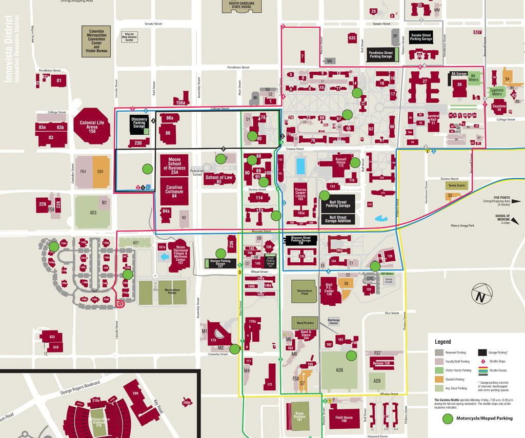 University Of South Carolina Map What to know before you mo', Bro | University of South Carolina