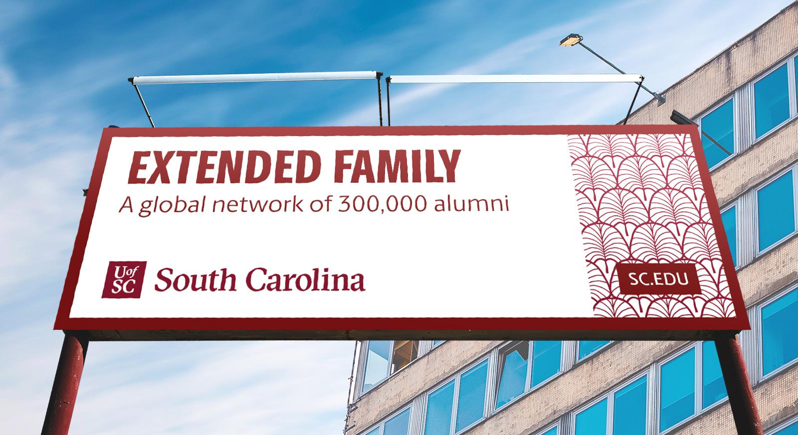 This billboard message leads with an emotional message — rather than a data point or ranking — to appeal to audiences while reinforcing the university's core value proposition.