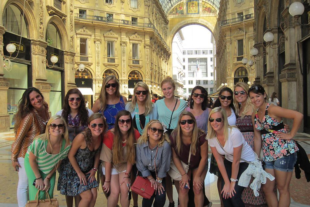 Where better to learn about fashion than in Milan? This group of HRSM students took some breathtaking photos while on their food and fashion of Italy trip.