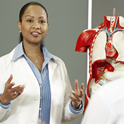 Black Female Professor with Anatomical Model