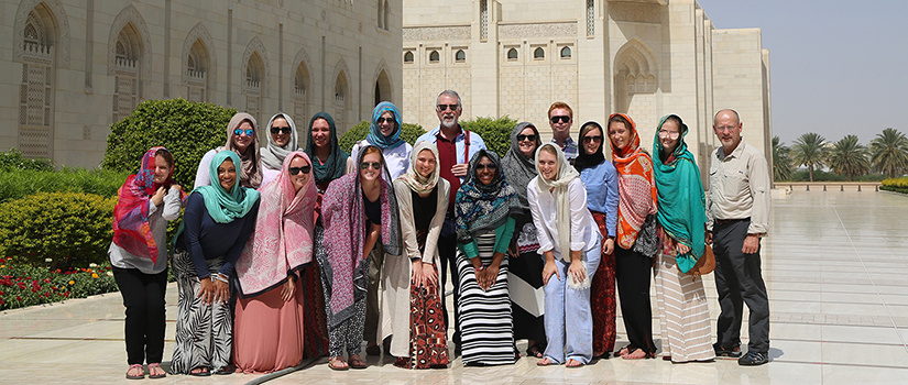Students, faculty and staff from USC visit Oman.