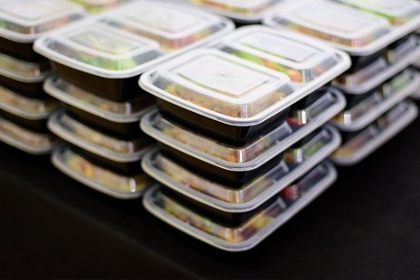 stacks of boxed meals