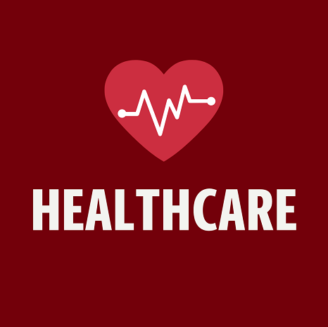 "a picture of a heart with the text ""health care"" under"