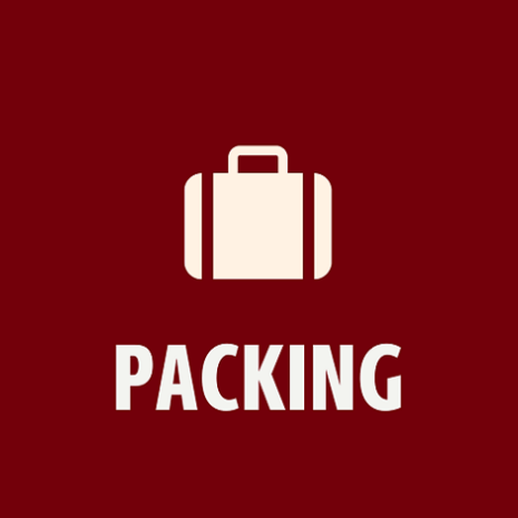 "a picture of a bag with the text ""packing"" under"