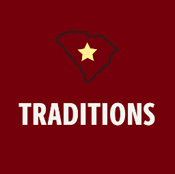 "a piture of SC state with the word ""traditions"" under."